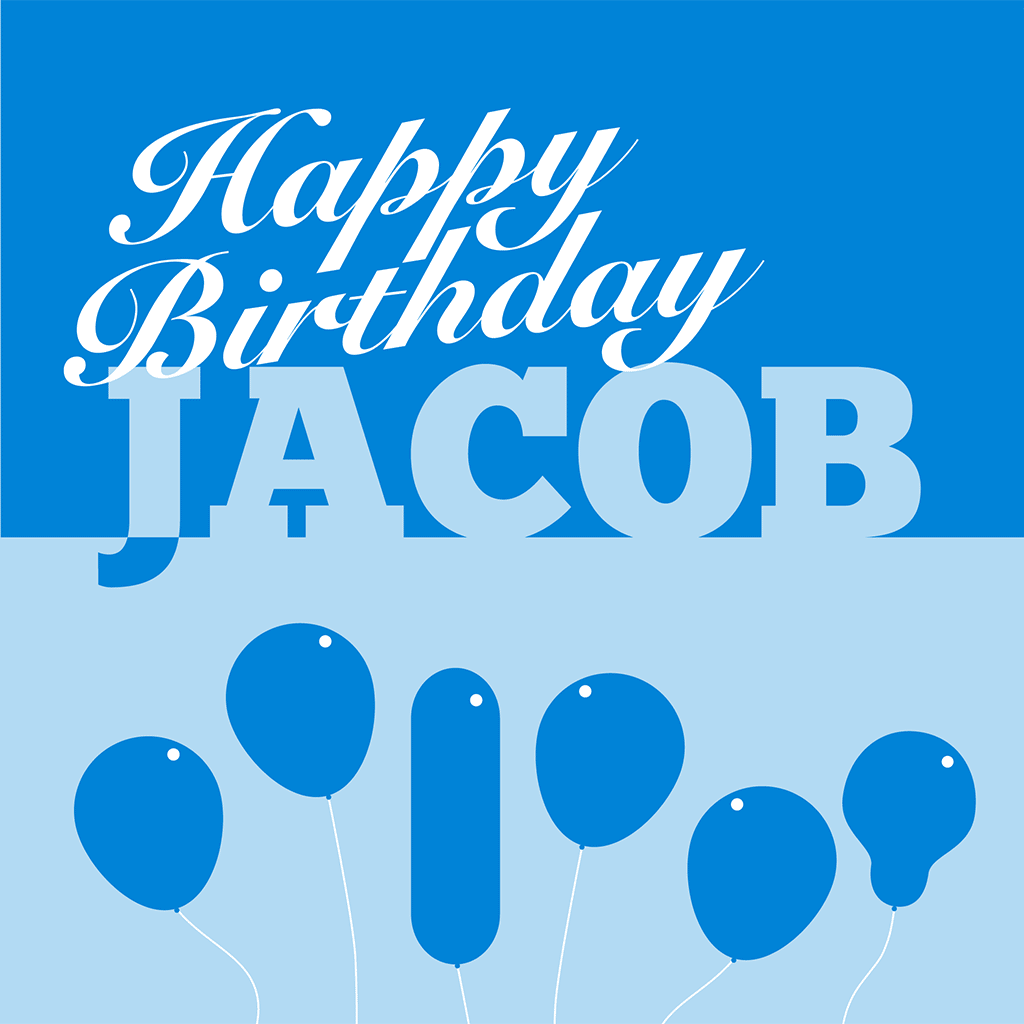 Happy Birthday Jacob Card
