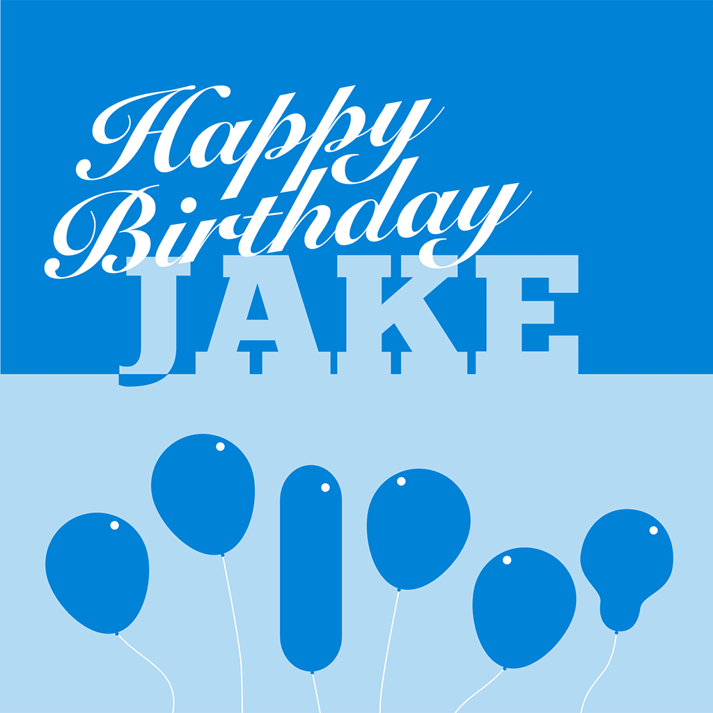 Happy Birthday Jake Card