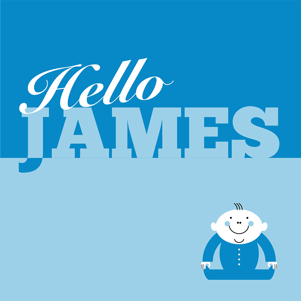 Hello James Card