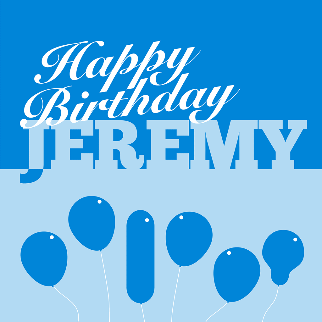 Happy Birthday Jeremy Card