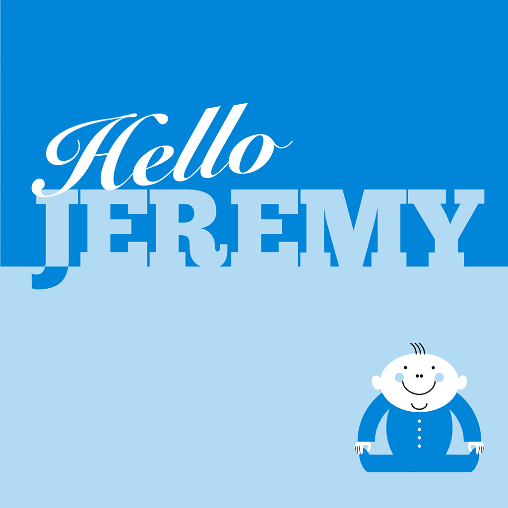Hello Jeremy Card