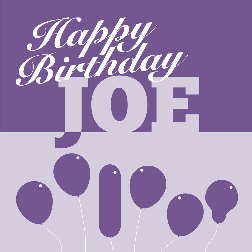 Happy Birthday Joe Card