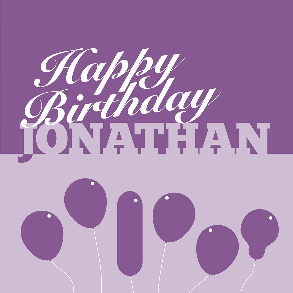 Happy Birthday Jonathan Card