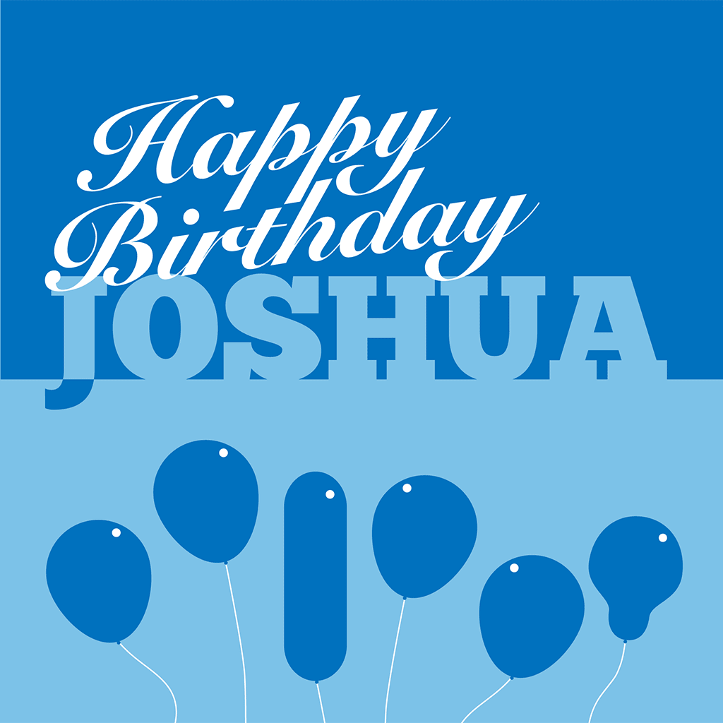 Happy Birthday Joshua Card