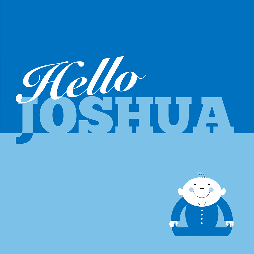 Hello Joshua Card