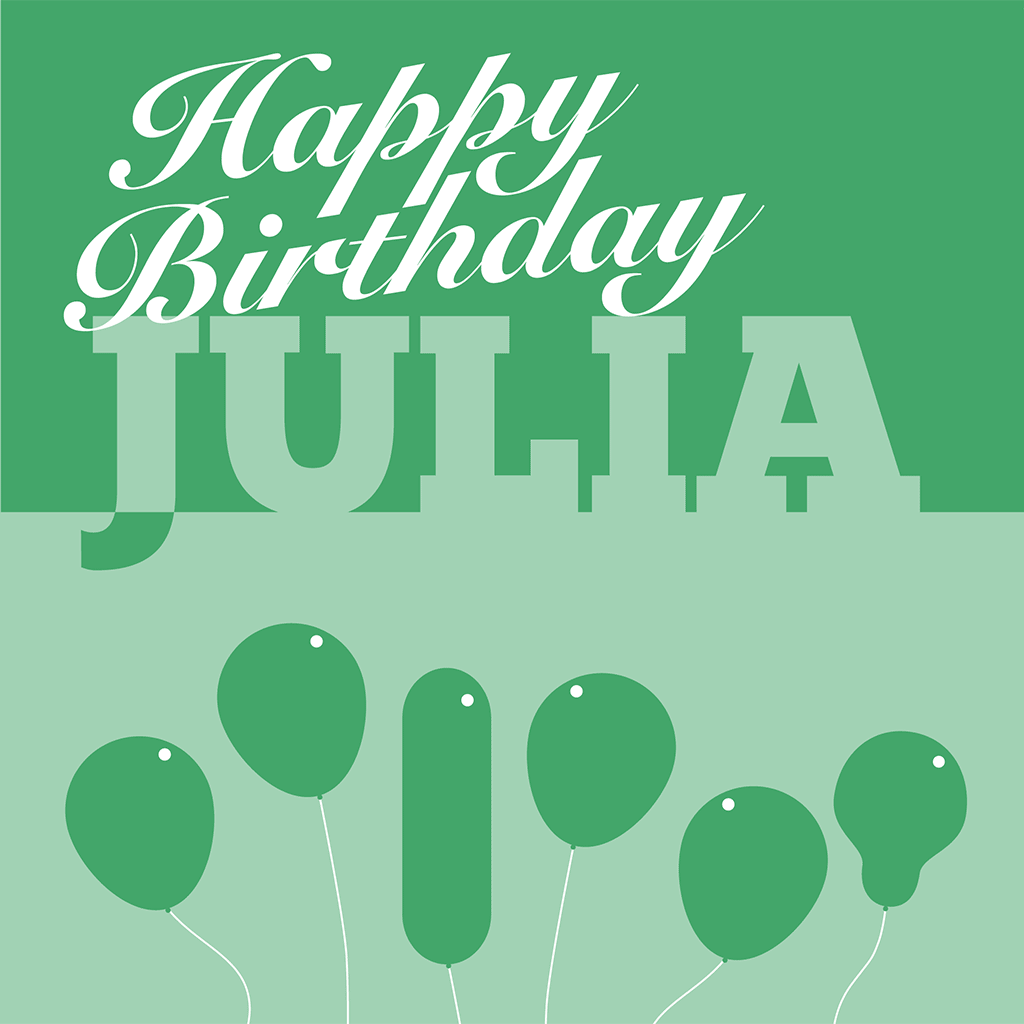 Happy Birthday Julia Card