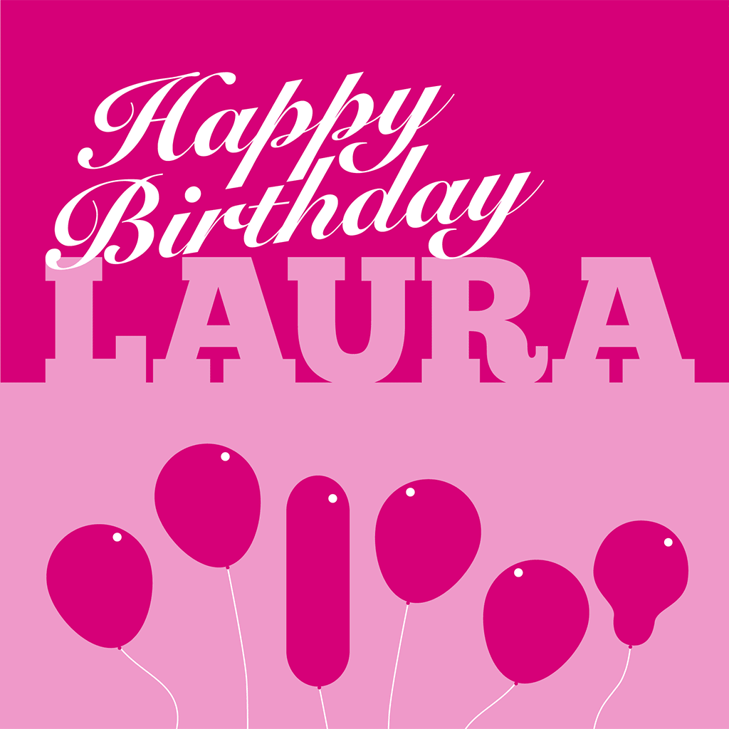 Happy Birthday Laura Card