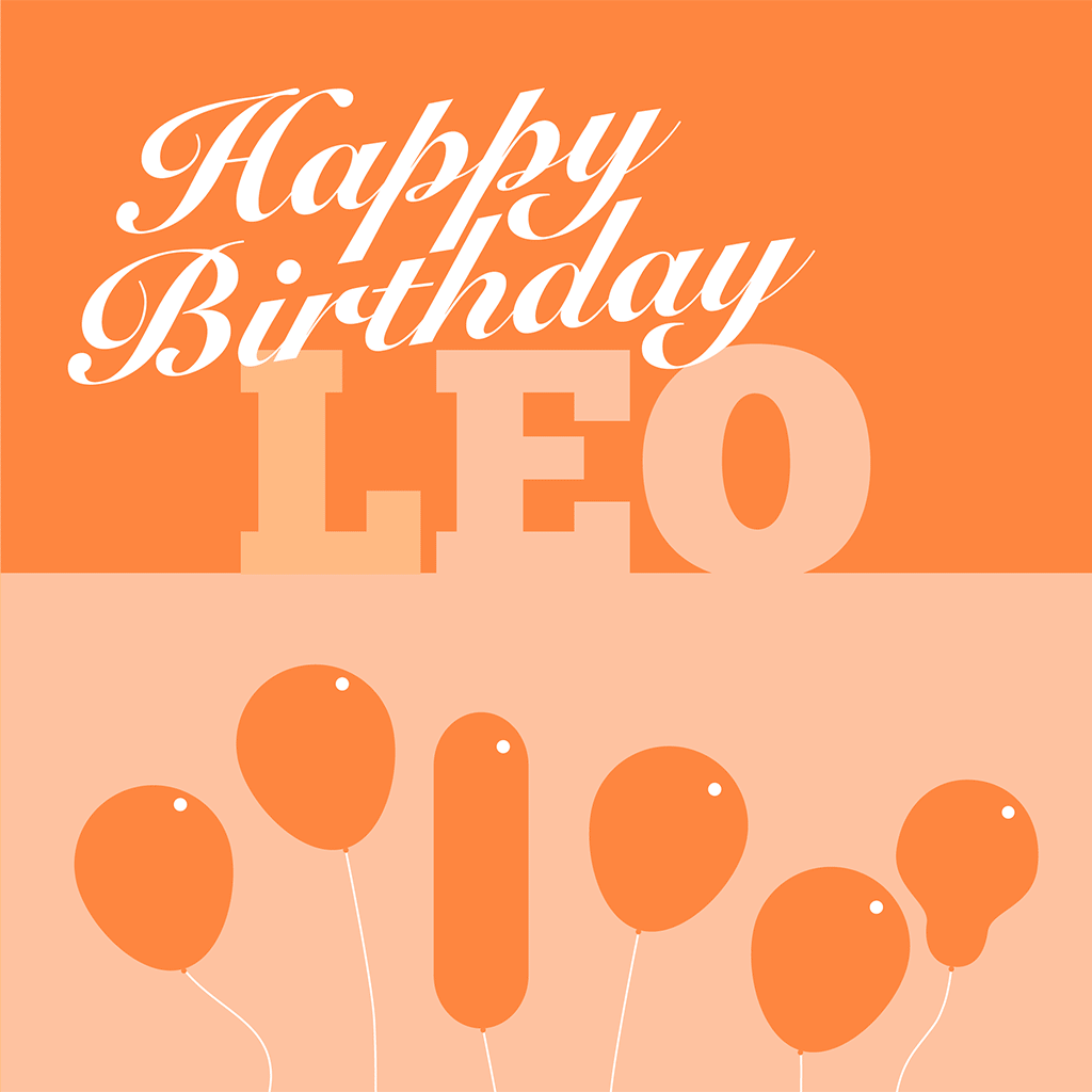 Happy Birthday Leo Card
