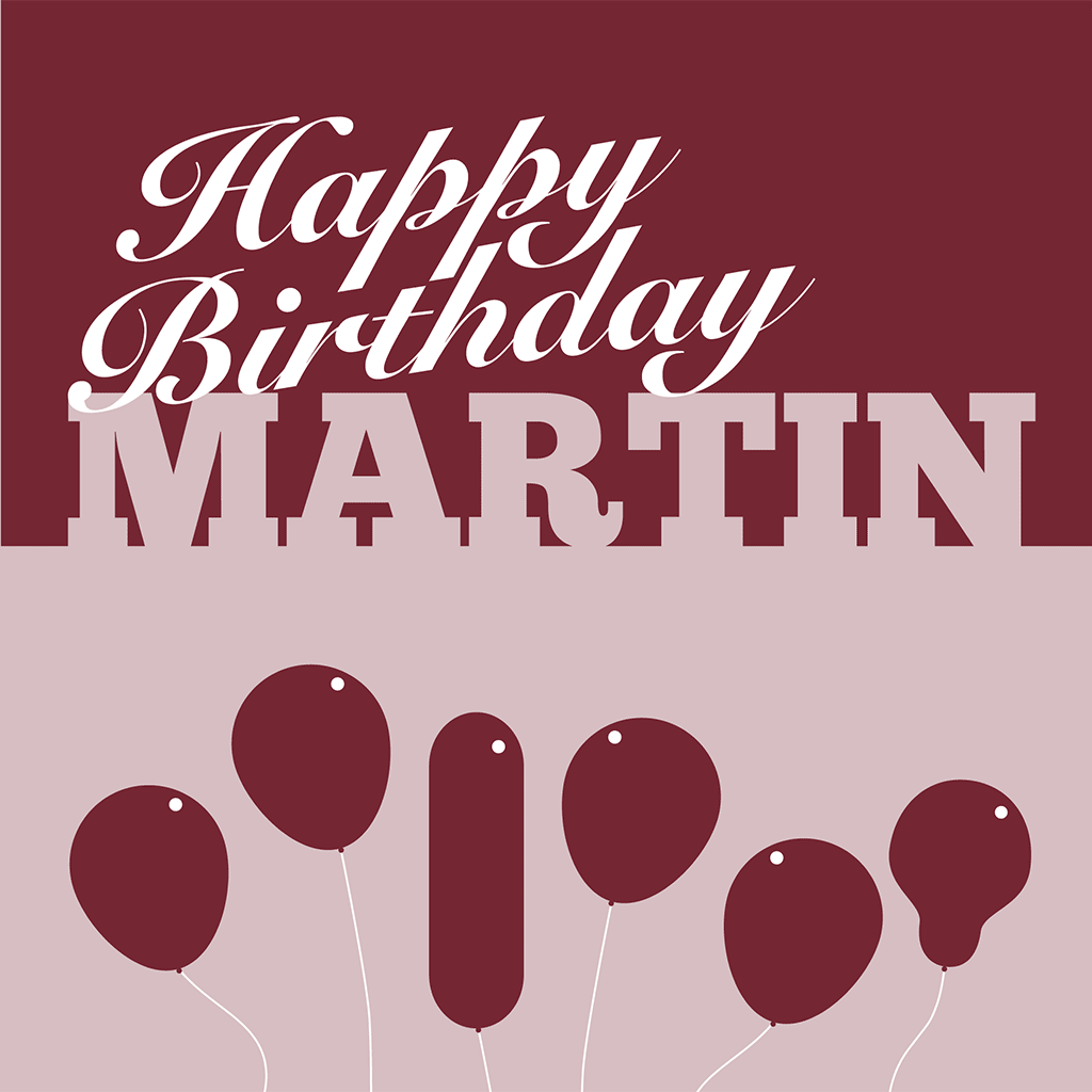 Happy Birthday Martin Card