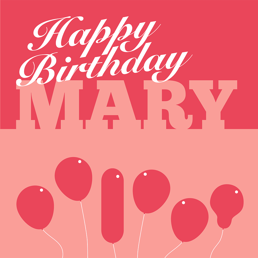 Happy Birthday Mary card
