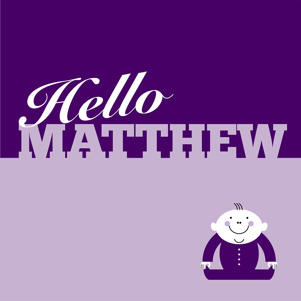 Hello Matthew Card