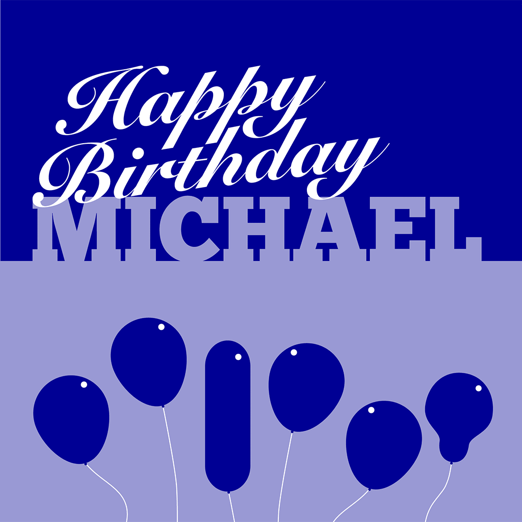 Unique Personalised Birthday Card For Michael Nameslink