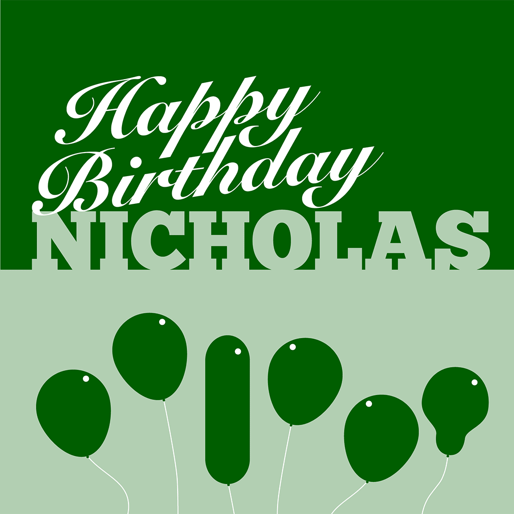 Happy Birthday Nicholas Card