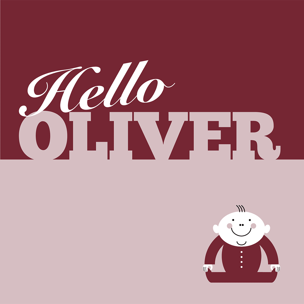 Hello Oliver Card
