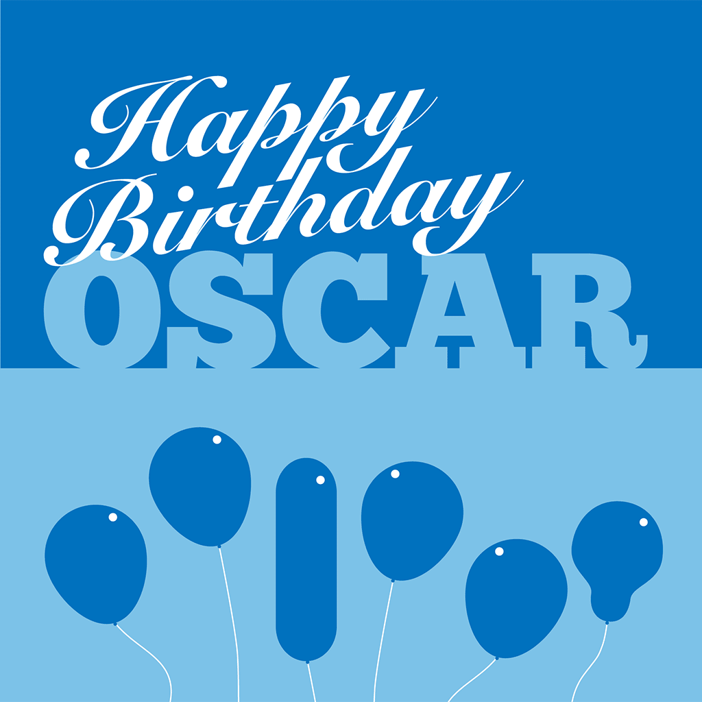 Happy Birthday Oscar Card