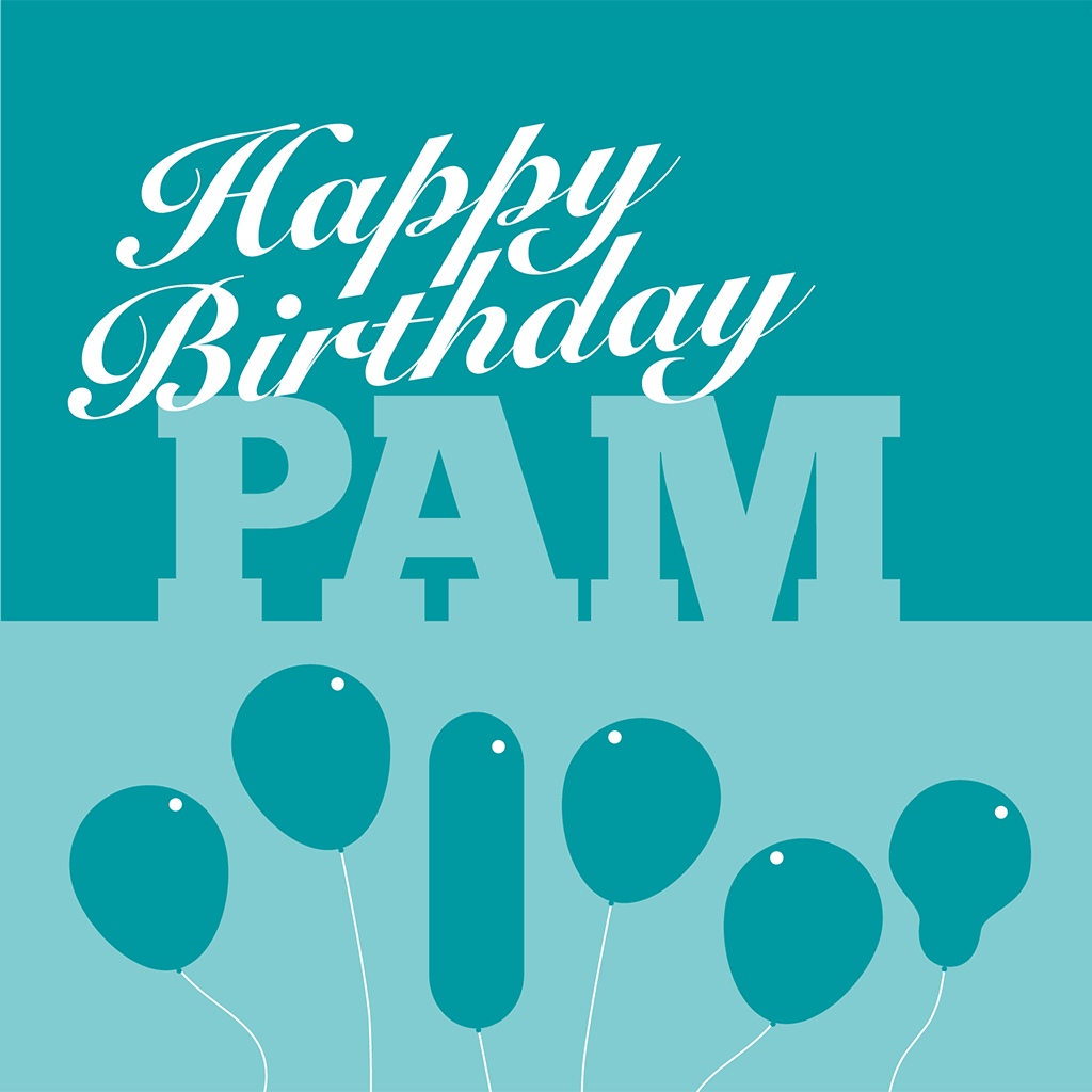 Happy Birthday Pam Card