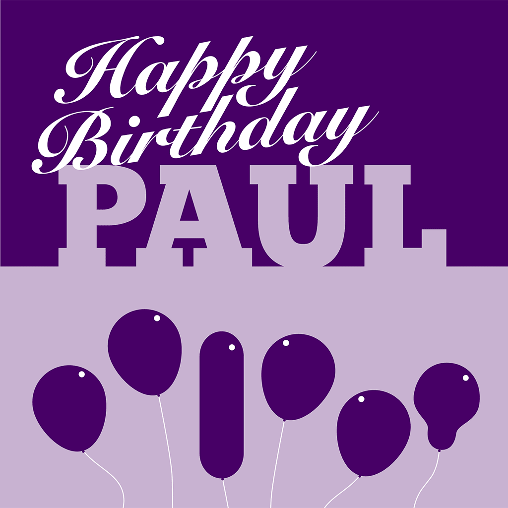 Happy Birthday Paul Card