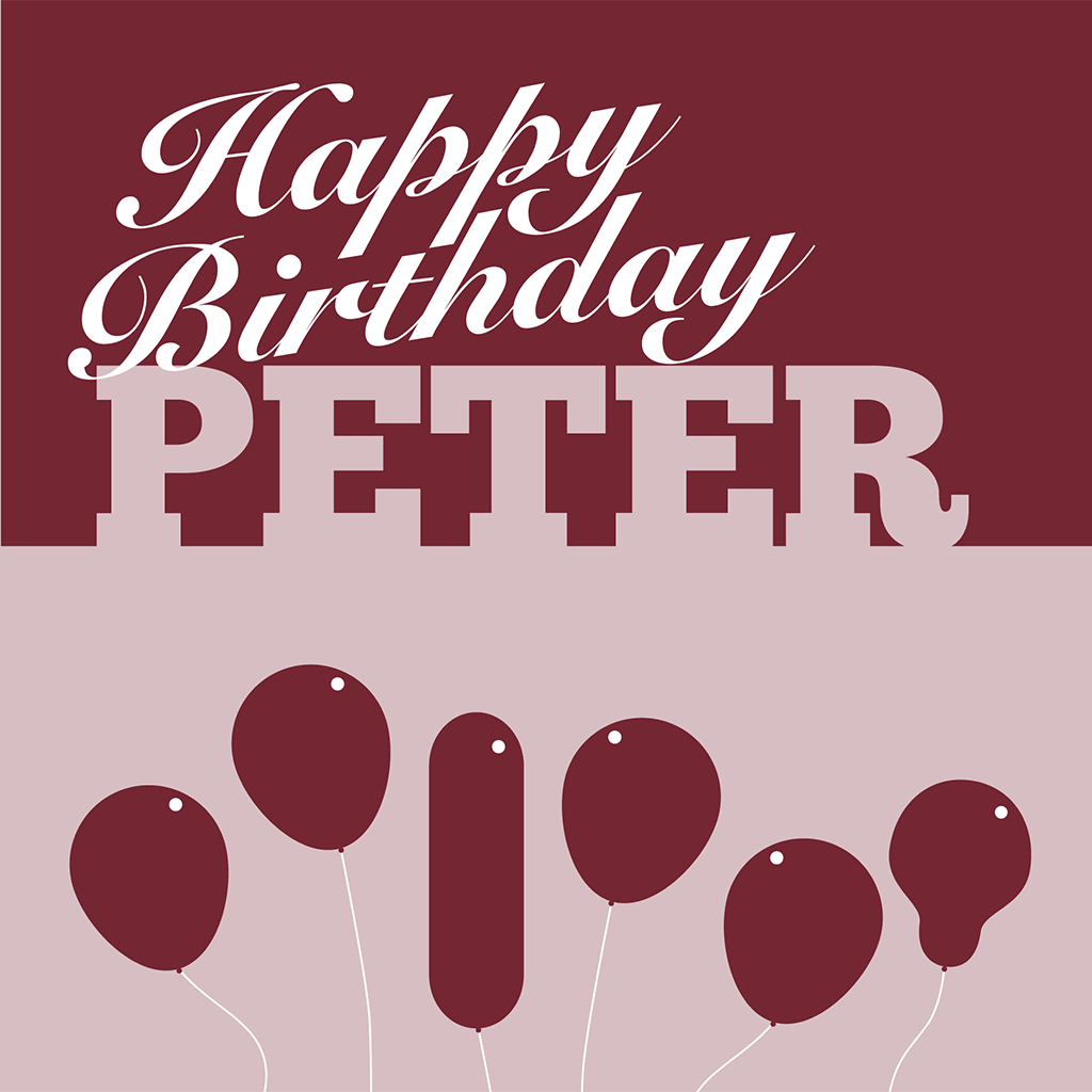 Happy Birthday Peter Card