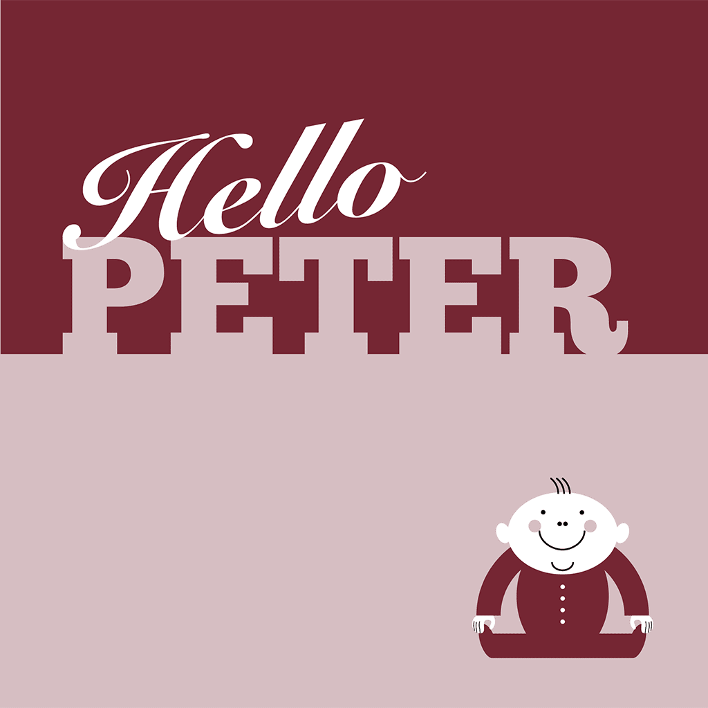 Hello Peter Card