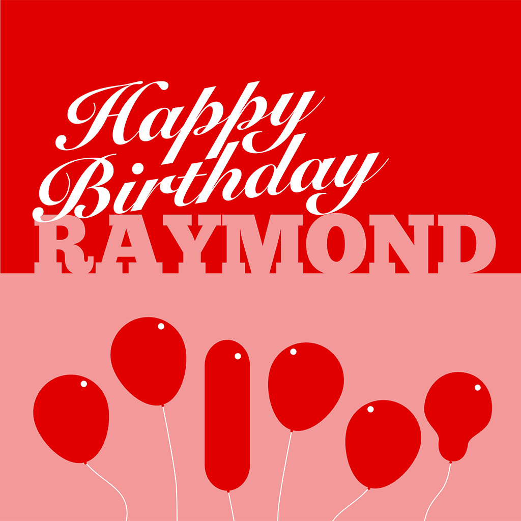 Happy Birthday Raymond Card