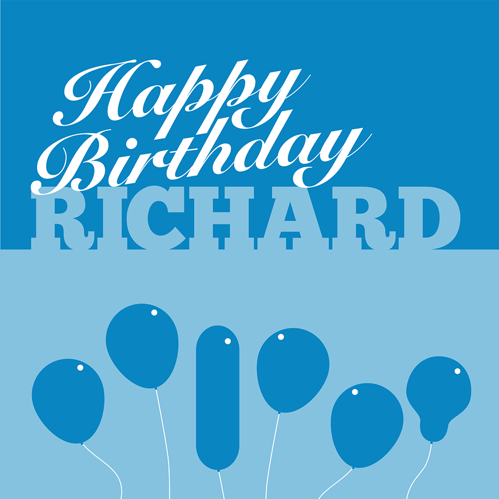 Happy Birthday Richard card