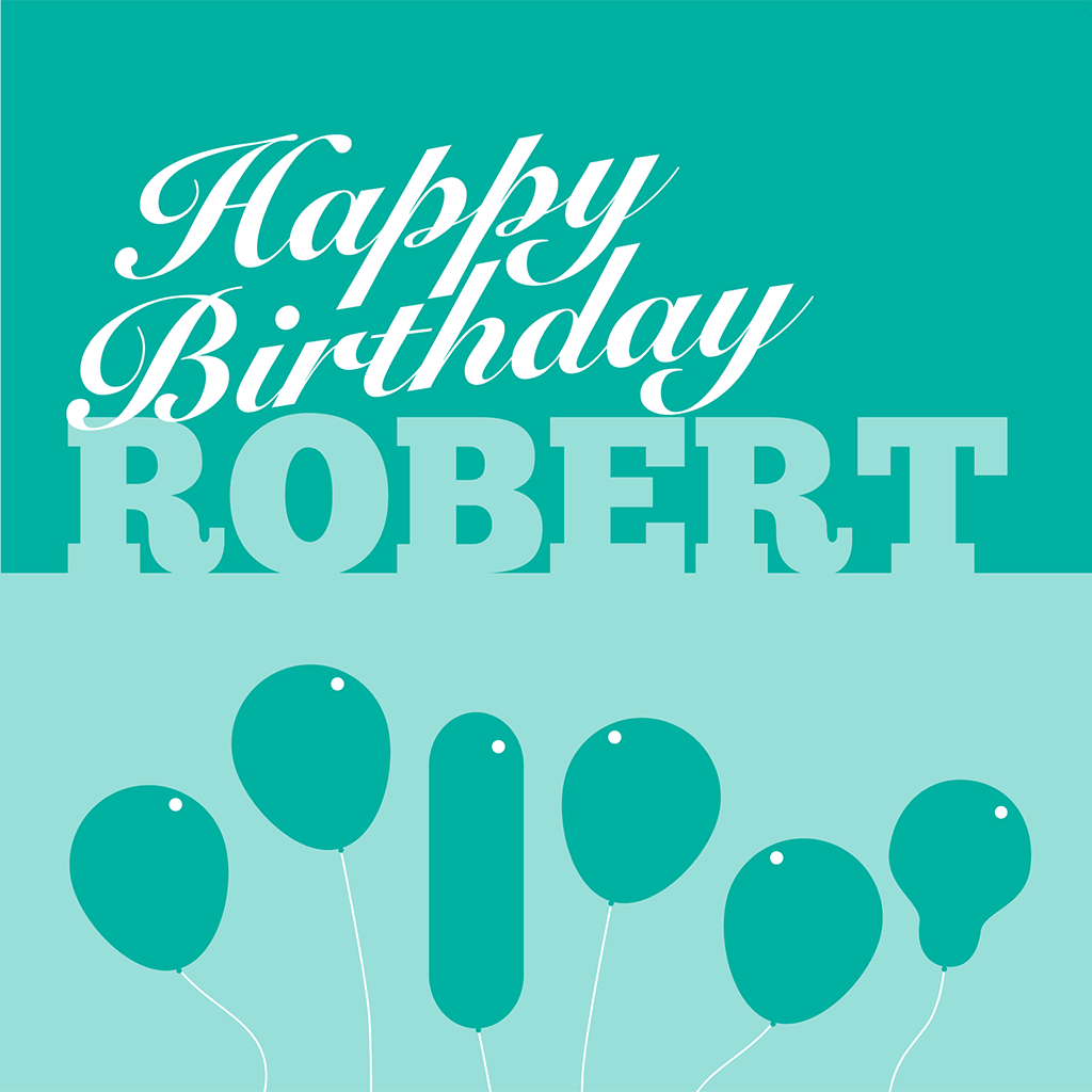 Personalised Birthday Card For Robert
