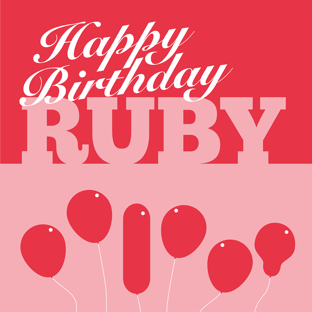 Happy Birthday Ruby Card