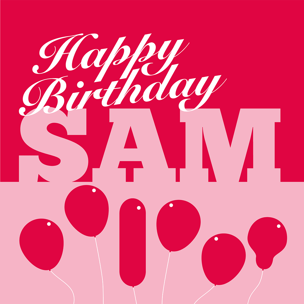 Happy Birthday Sam Card