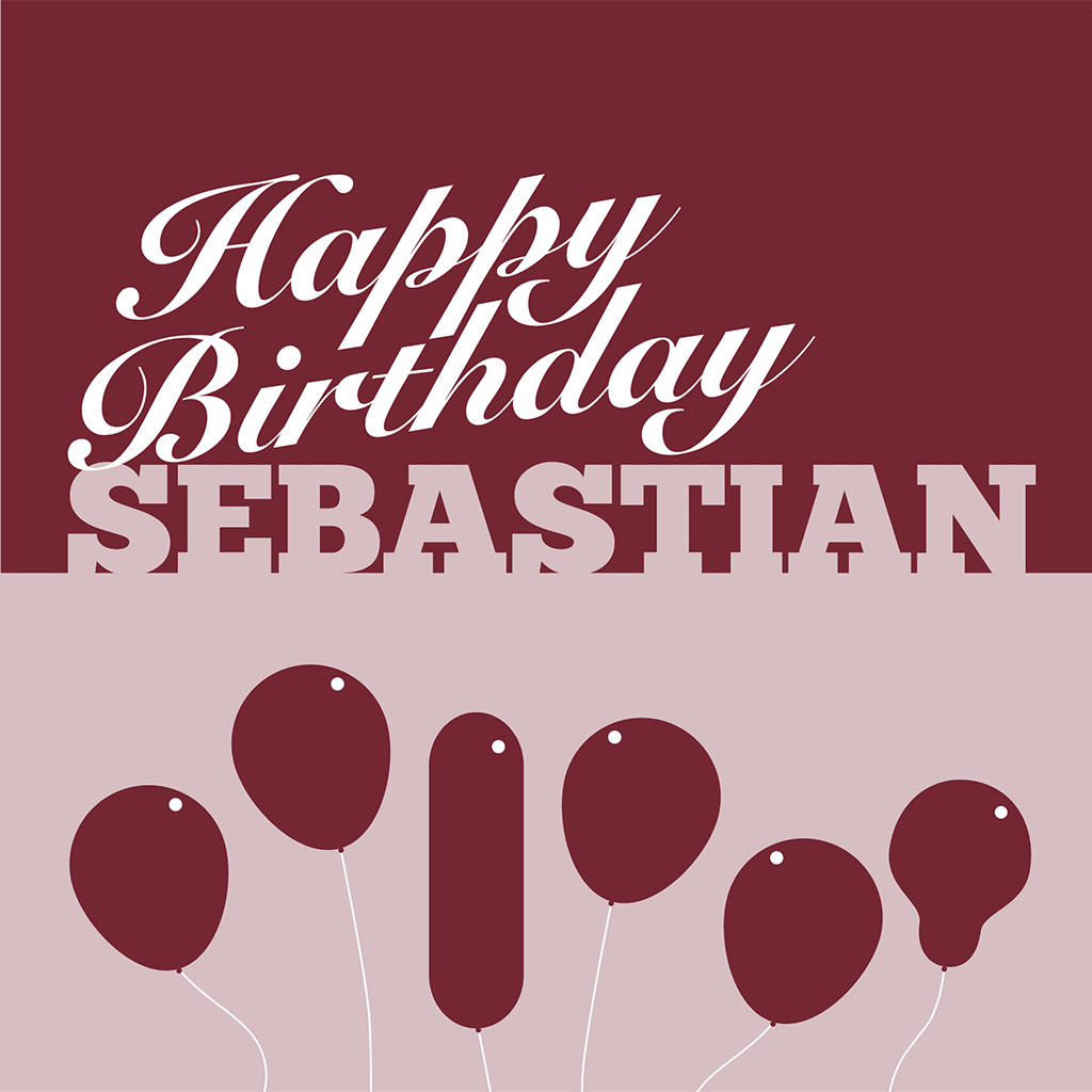 Happy Birthday Sebastian Card