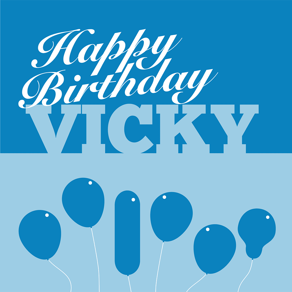 Happy Birthday Vicky Card