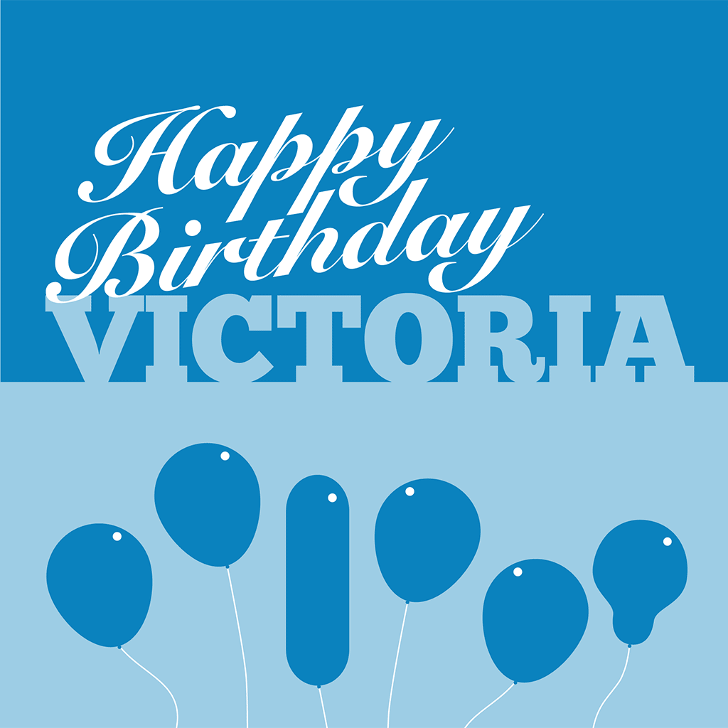 Happy Birthday Victoria Card
