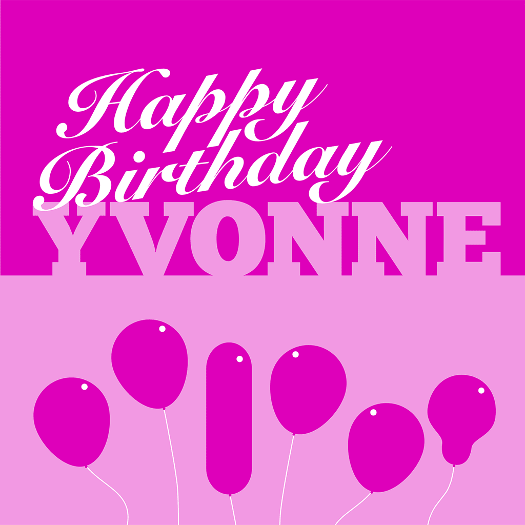 Happy Birthday Yvonne Card