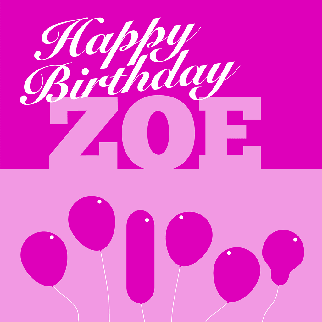 Happy Birthday Zoe Card