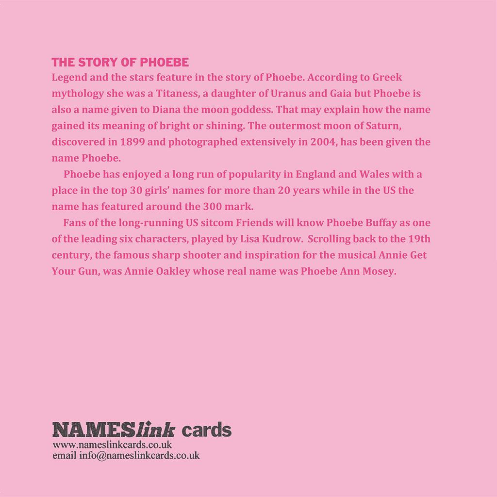 Phoebe Card Back