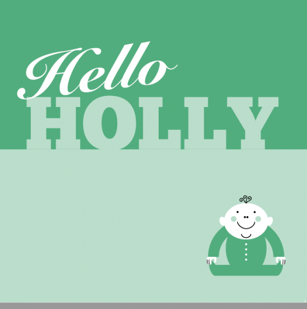 Hello Holly Card Front