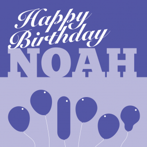 Noah Birthday Card Front