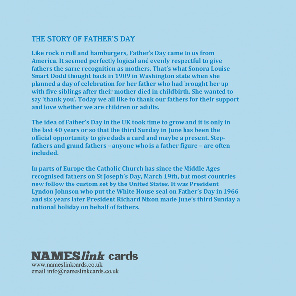 Happy Father's Day Card Back