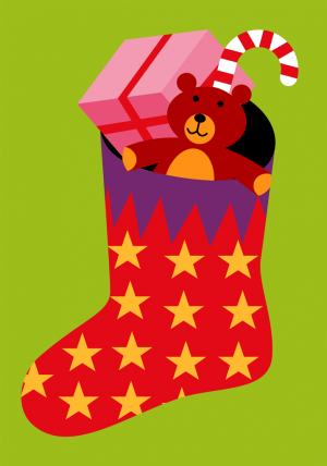 Christmas Stocking Card Front