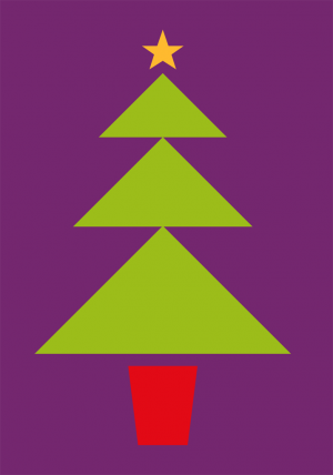 Christmas Tree Card Front